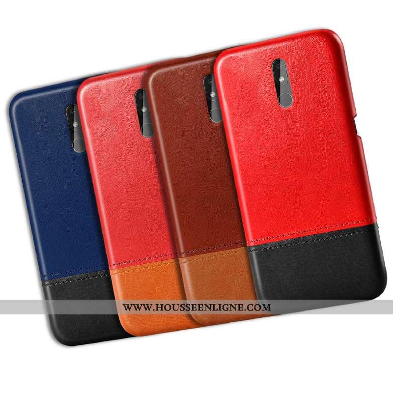 Coque Nokia 3.2 Modèle Fleurie Protection Difficile Créatif Téléphone Portable Personnalité Rouge