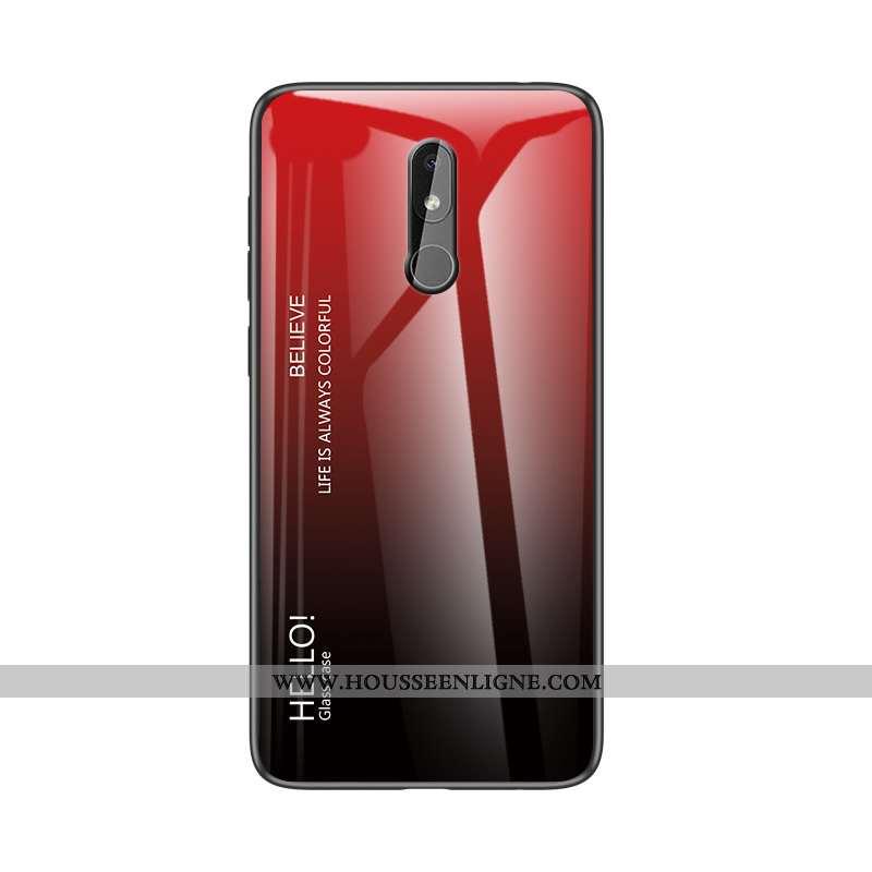 Coque Nokia 3.2 Personnalité Protection Étui Tout Compris Incassable Rouge