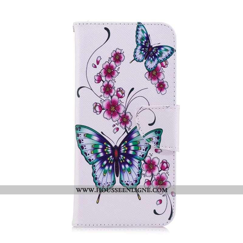 Coque Nokia 3.2 Protection Cuir Téléphone Portable Étui Blanc Housse Blanche