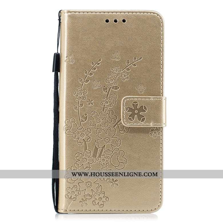 Coque Nokia 5.1 Protection Cuir Téléphone Portable Or Étui Clamshell Incassable Doré