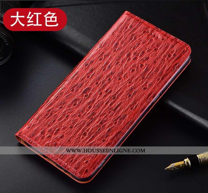 Coque Nokia 5.1 Protection Cuir Véritable Rouge Téléphone Portable Modèle Fleurie Incassable