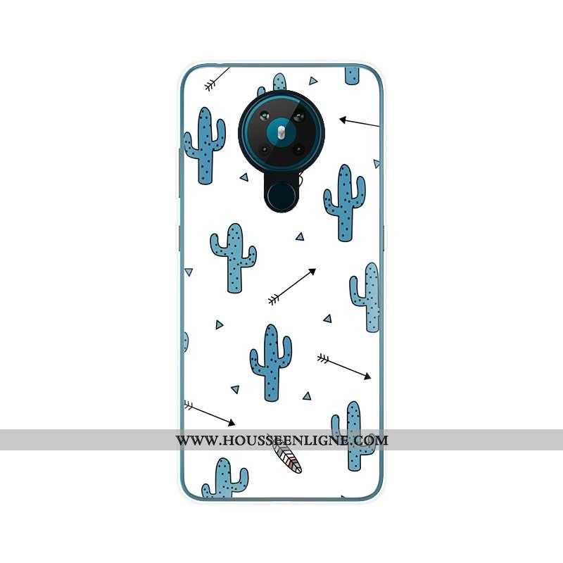 Coque Nokia 5.3 Légère Fluide Doux Ultra Blanc Protection Personnalisé Blanche