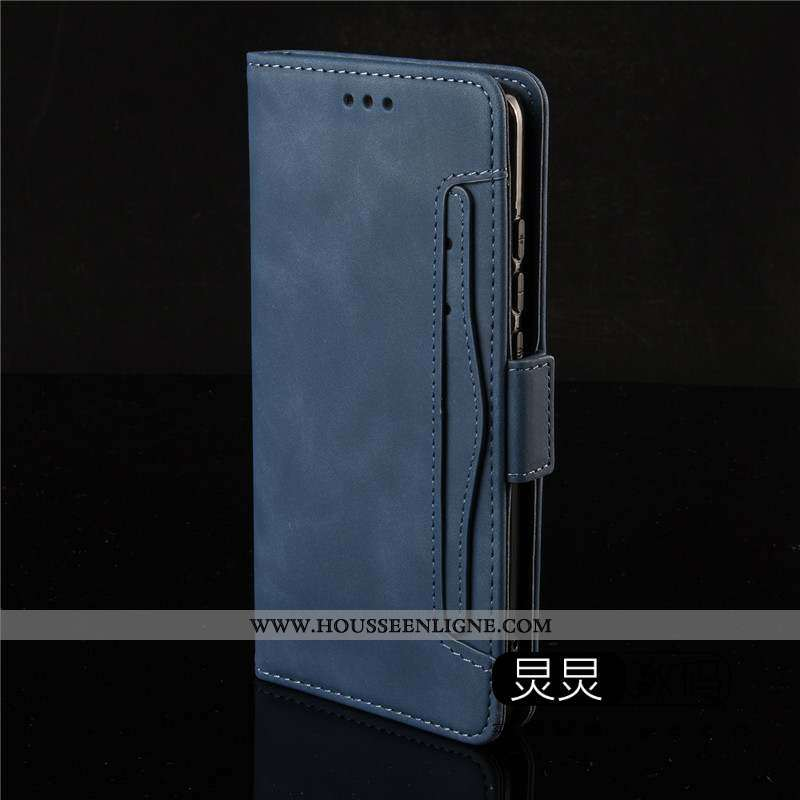 Coque Nokia 5.3 Protection Cuir Carte Clamshell Téléphone Portable Bleu Marin Bleu Foncé