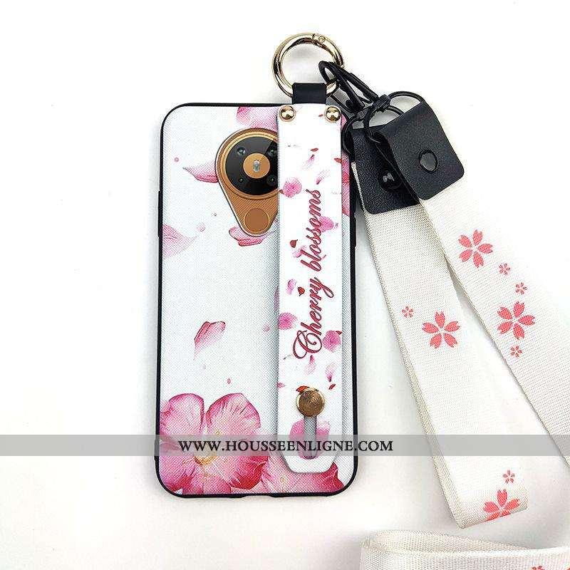 Coque Nokia 5.3 Silicone Protection Tendance Téléphone Portable Support Fleur Vent Rose
