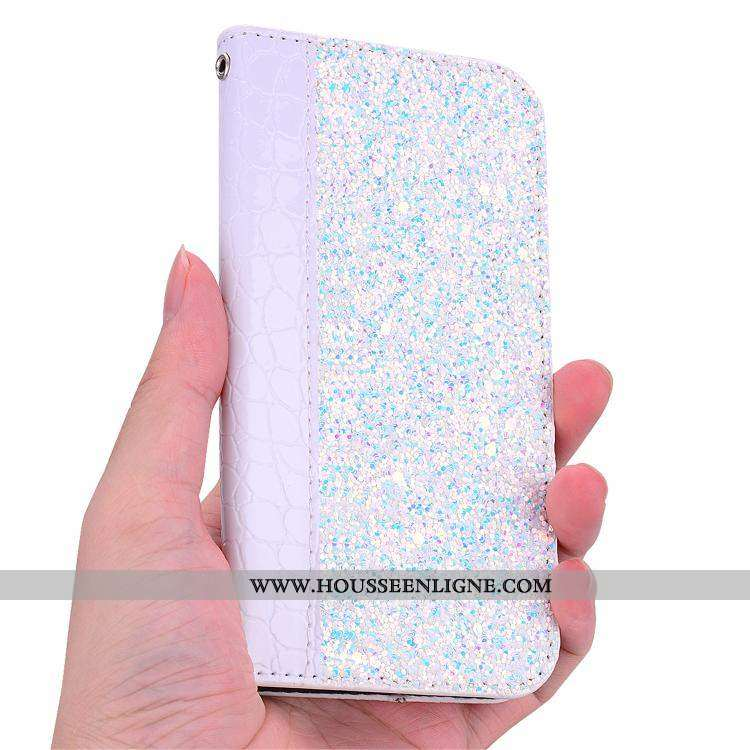 Coque Nokia 6.1 Personnalité Portefeuille Cuir Étui Violet Téléphone Portable Support
