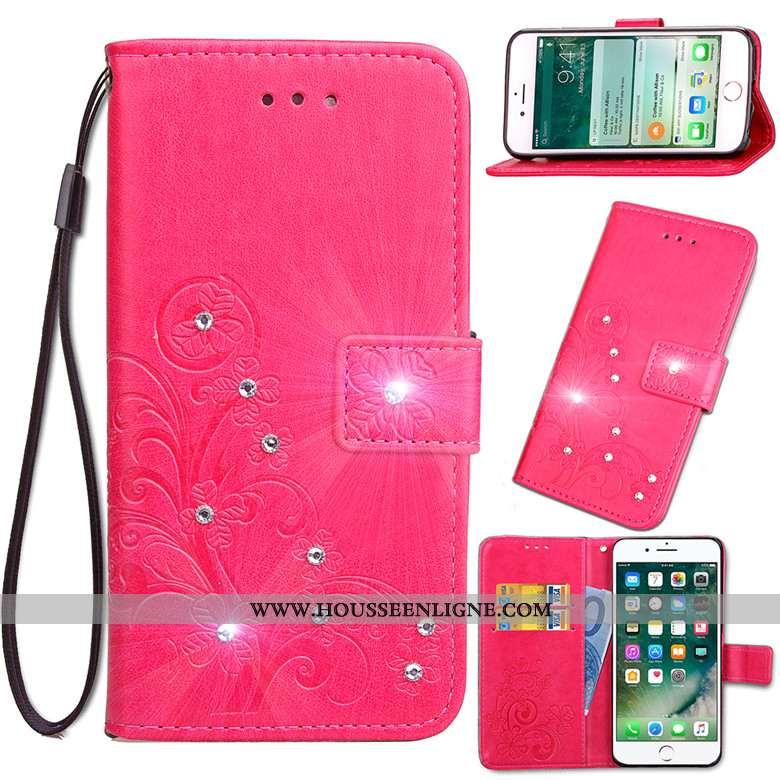 Coque Nokia 6.2 Protection Cuir Rouge Incassable Étui Téléphone Portable