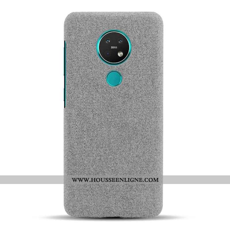 Coque Nokia 6.2 Protection Légère Étui Gris Téléphone Portable Incassable Tissu