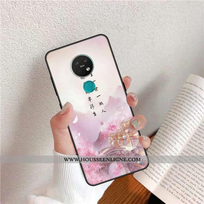 Coque Nokia 6.2 Protection Personnalité Incassable Silicone Mode Amoureux Frais Rose