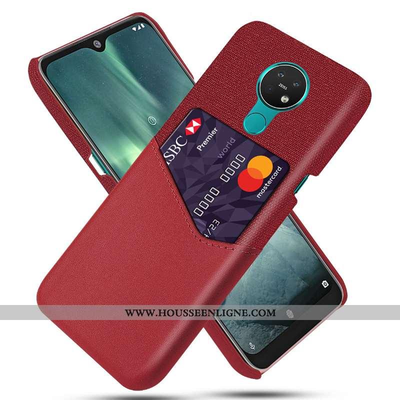 Coque Nokia 6.2 Protection Ultra Qualité Difficile Carte Étui Rouge