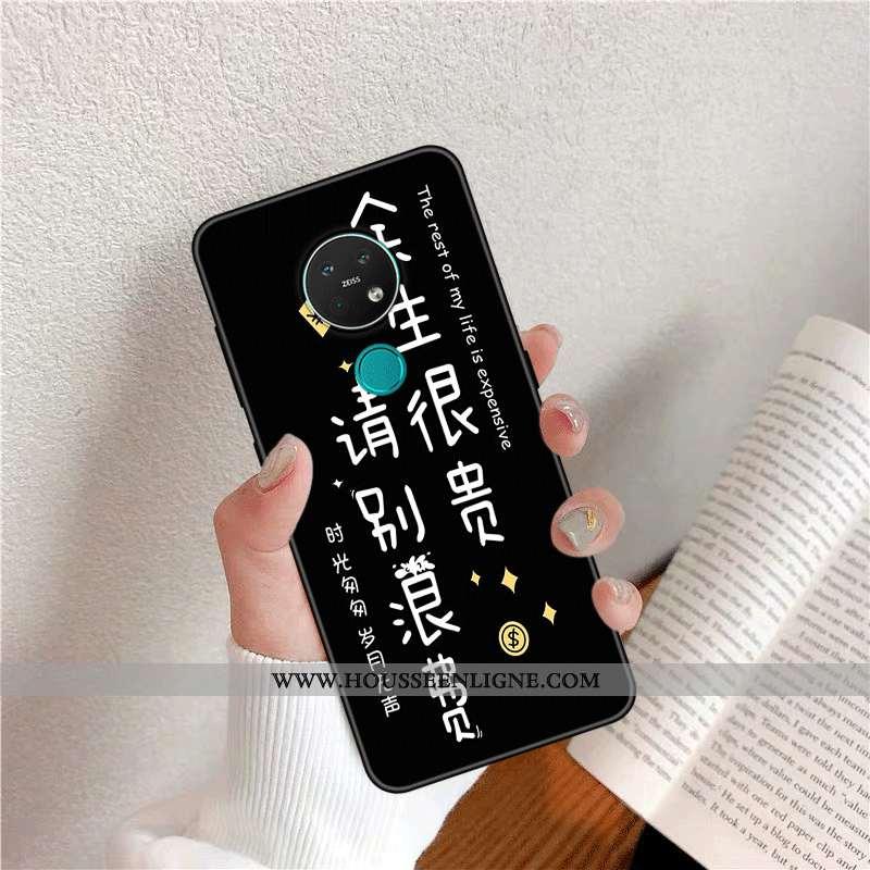 Coque Nokia 6.2 Silicone Protection Net Rouge Tendance Personnalité Fluide Doux Noir