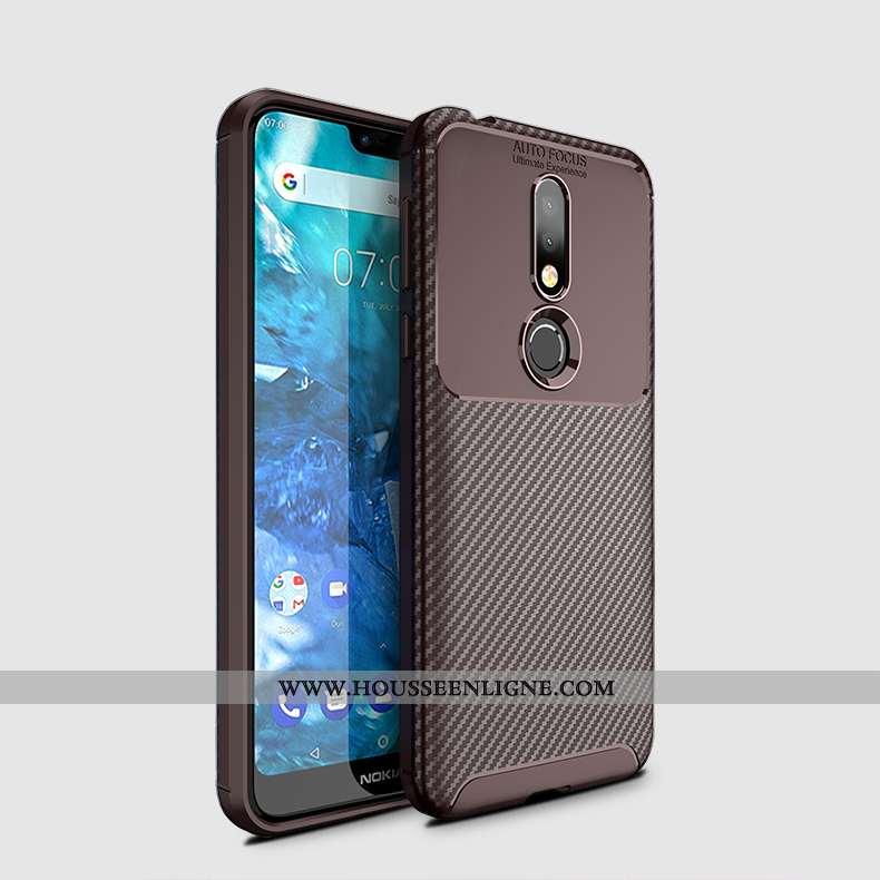Coque Nokia 7.1 Fluide Doux Silicone Téléphone Portable Délavé En Daim Respirant Nouveau Légères Mar