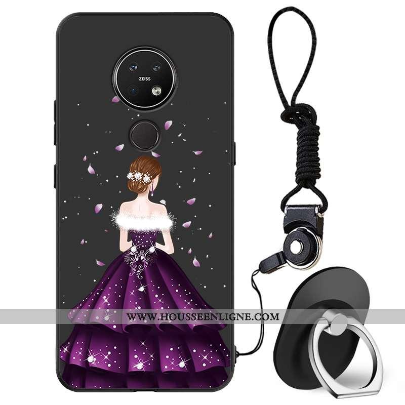 Coque Nokia 7.2 Protection Charmant Frais Petit Tout Compris Téléphone Portable Noir