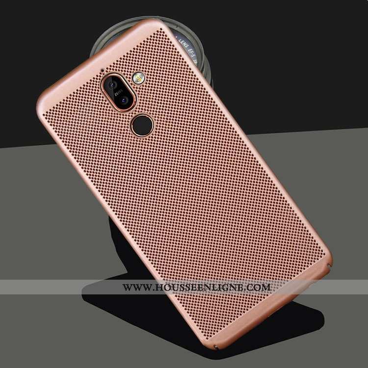 Coque Nokia 7 Plus Délavé En Daim Protection Refroidissement Étui Respirant Téléphone Portable Mesh
