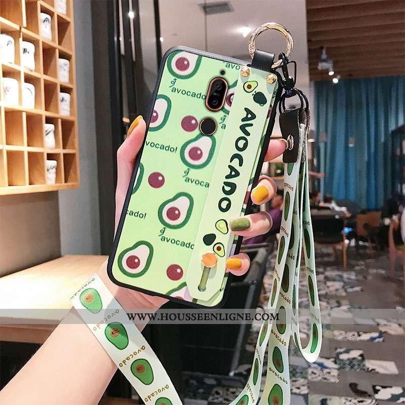 Coque Nokia 7 Plus Protection Ornements Suspendus Tout Compris Vert Téléphone Portable Incassable Ve