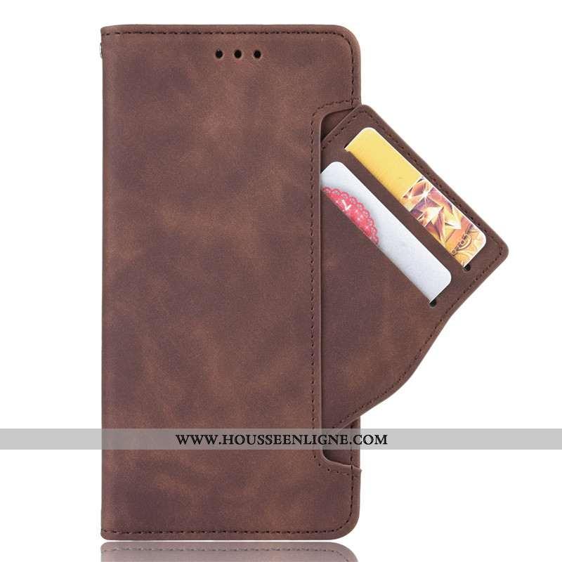 Coque Nokia 8.1 Protection Cuir Carte Housse Marron Téléphone Portable