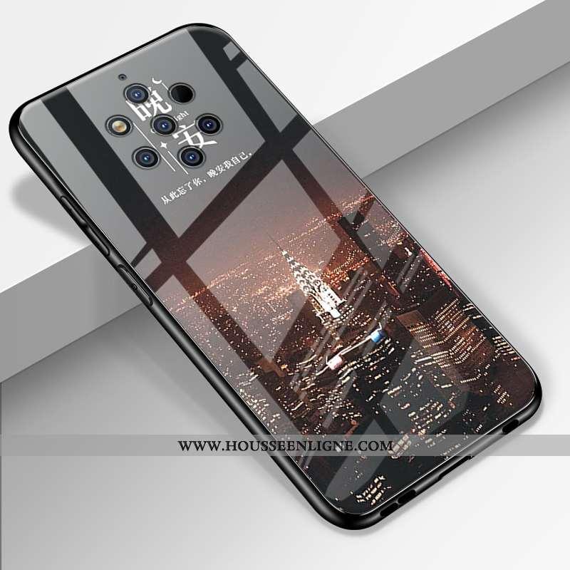Coque Nokia 9 Pureview Fluide Doux Silicone Tendance Tout Compris Personnalisé Incassable Noir