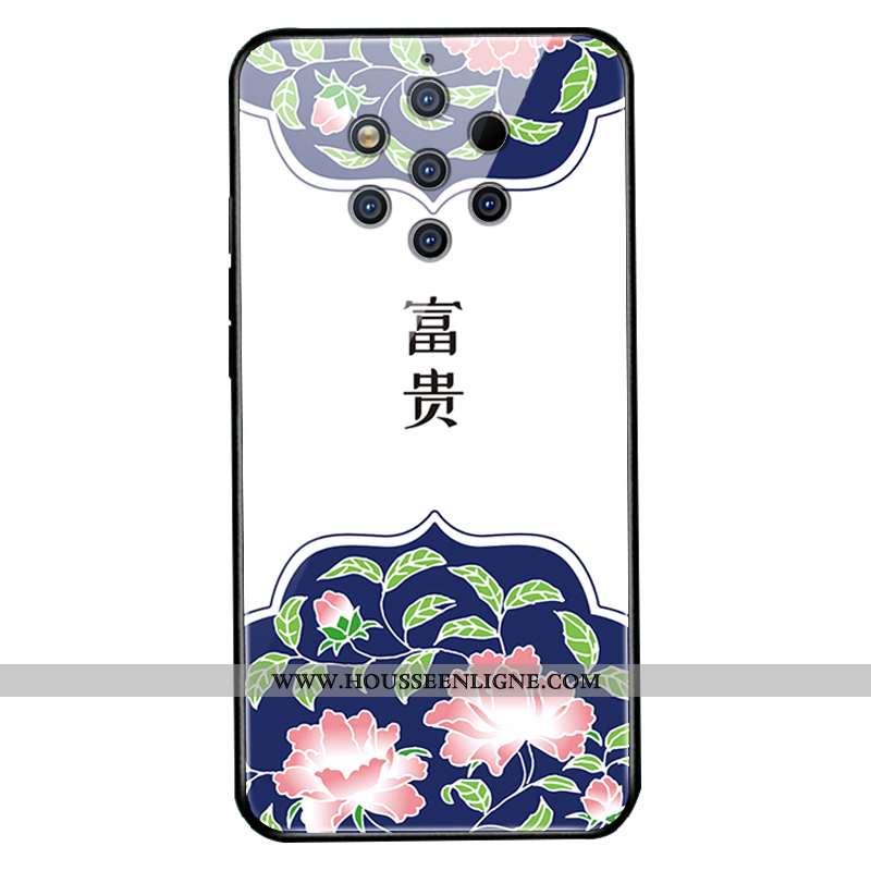 Coque Nokia 9 Pureview Verre Protection Blanc Téléphone Portable Étui Blanche