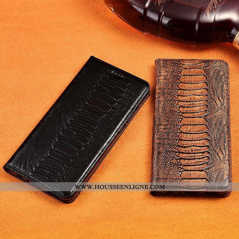 Coque Oneplus 5 Cuir Véritable Cuir Incassable Protection Noir Clamshell Silicone
