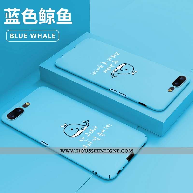 Coque Oneplus 5 Protection Délavé En Daim Dessin Animé Difficile Incassable Net Rouge Bleu