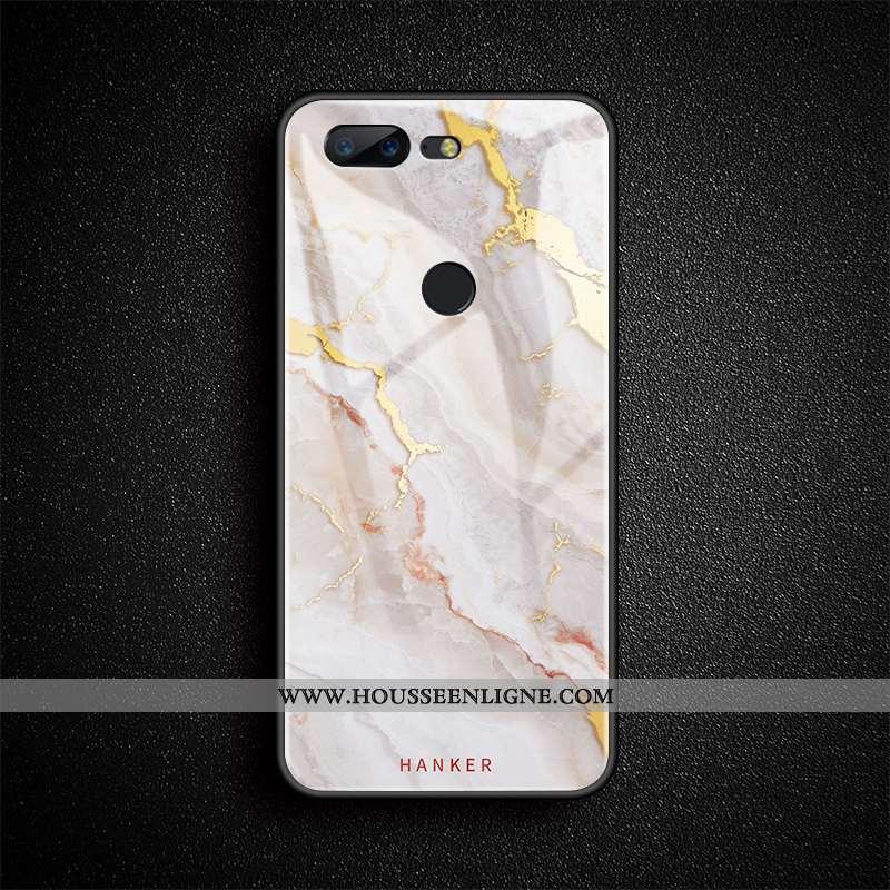 Coque Oneplus 5t Créatif Tendance Art Téléphone Portable Gems Luxe Simple Blanche