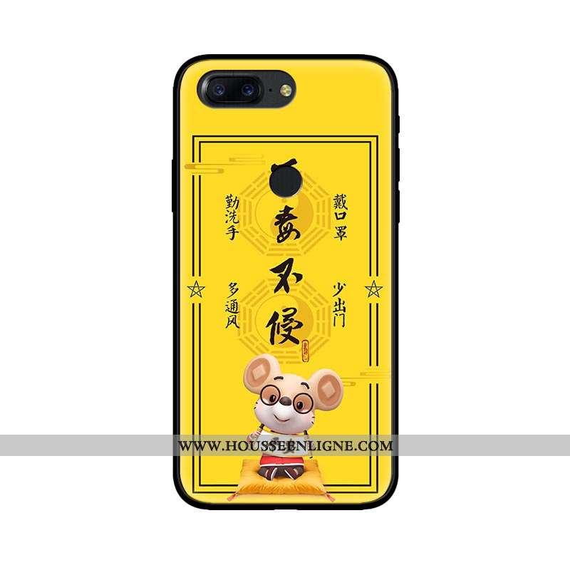 Coque Oneplus 5t Fluide Doux Silicone Téléphone Portable Protection Étui Tendance Tout Compris Jaune