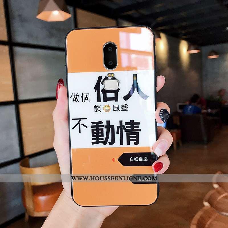 Coque Oneplus 6 Fluide Doux Silicone Téléphone Portable Personnalité Amoureux Protection Verre Orang
