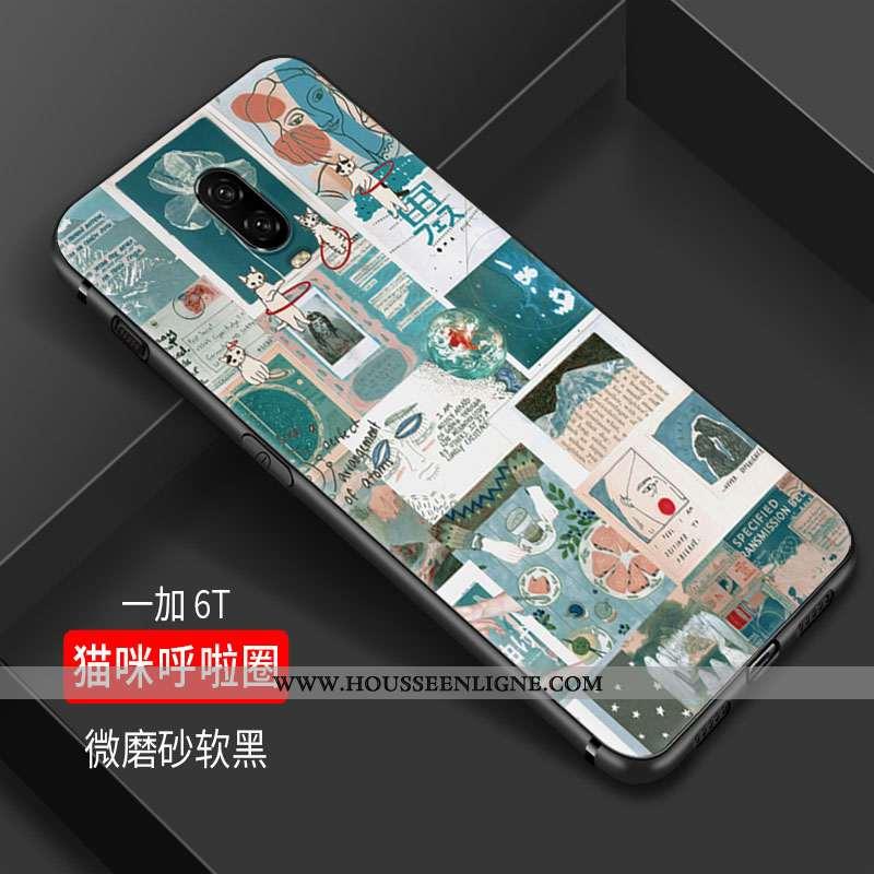 Coque Oneplus 6t Silicone Protection Téléphone Portable Tout Compris Petit Fluide Doux Charmant Vert