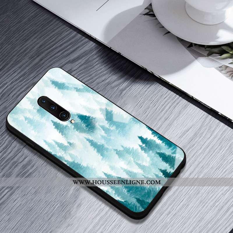 Coque Oneplus 7 Pro Silicone Verre Incassable Bleu Téléphone Portable Clair