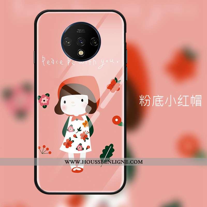 Coque Oneplus 7t Ornements Suspendus Tendance Net Rouge Rose Téléphone Portable Protection