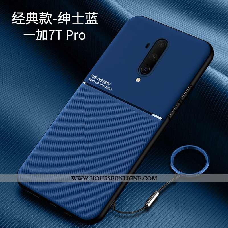 Coque Oneplus 7t Pro Ultra Légère Téléphone Portable Tout Compris Bleu Marin Personnalité Net Rouge