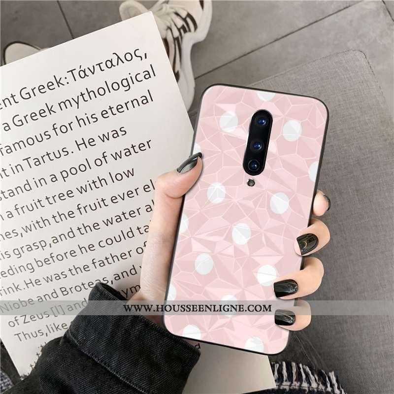 Coque Oneplus 8 Fraise Rose Téléphone Portable Net Rouge Losange