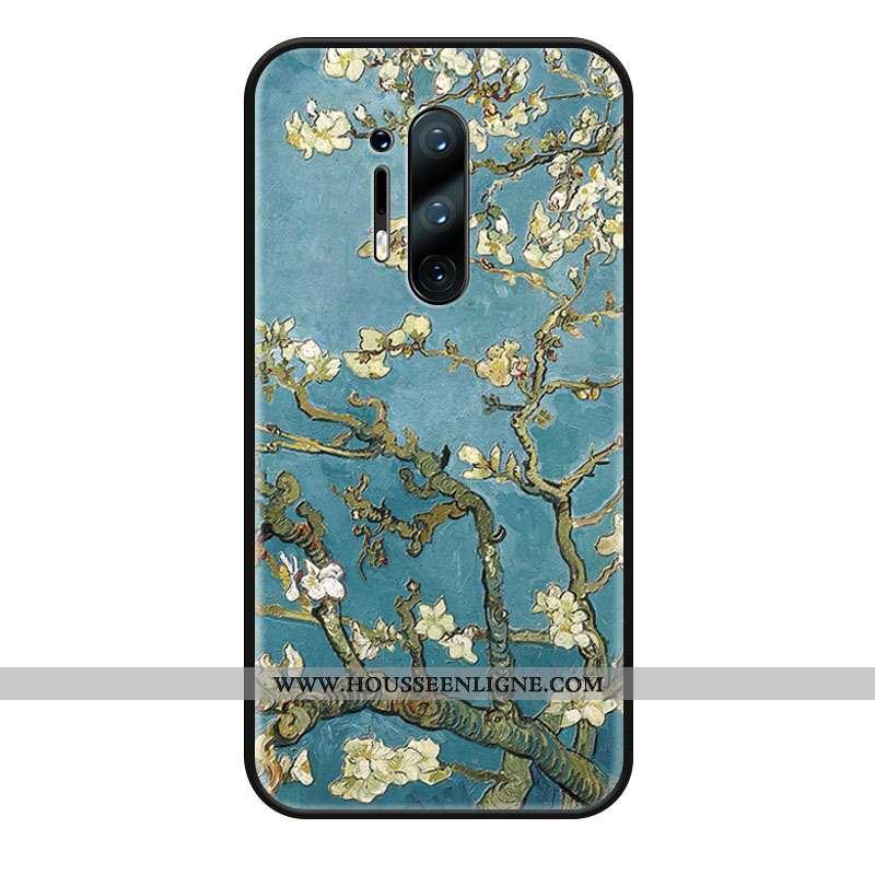 Coque Oneplus 8 Pro Protection Délavé En Daim Silicone Téléphone Portable Rose Vert Verte