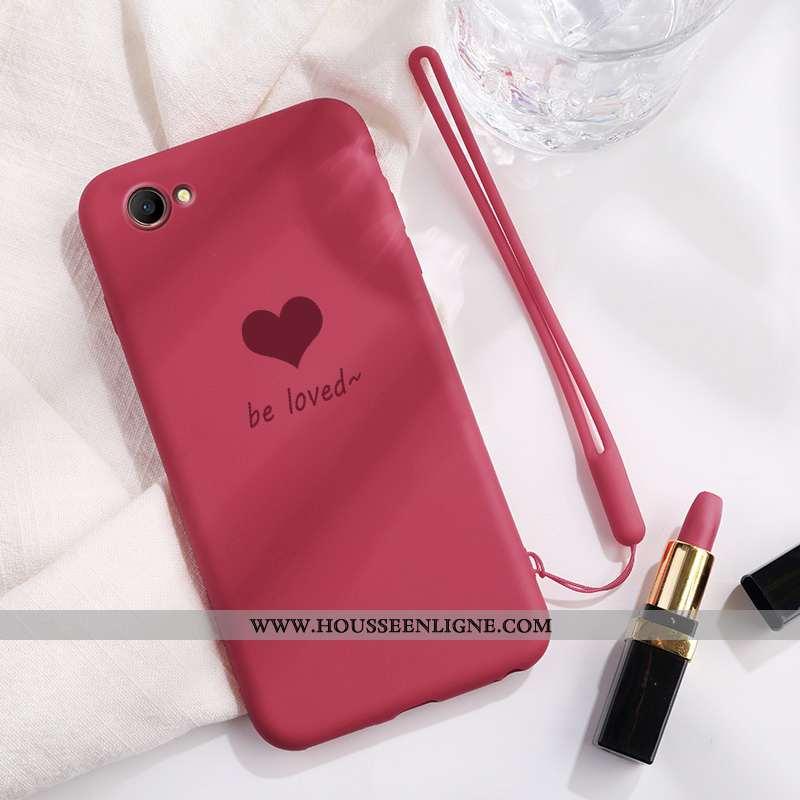 Coque Oppo A3 Fluide Doux En Silicone Tout Compris Étui Simple Incassable Mode Rouge