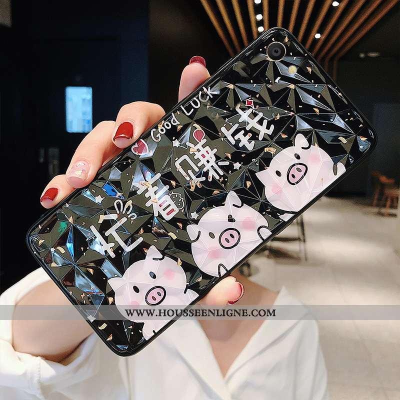 Coque Oppo A3 Protection Personnalité Étui Téléphone Portable Net Rouge Fluide Doux Tendance Noir