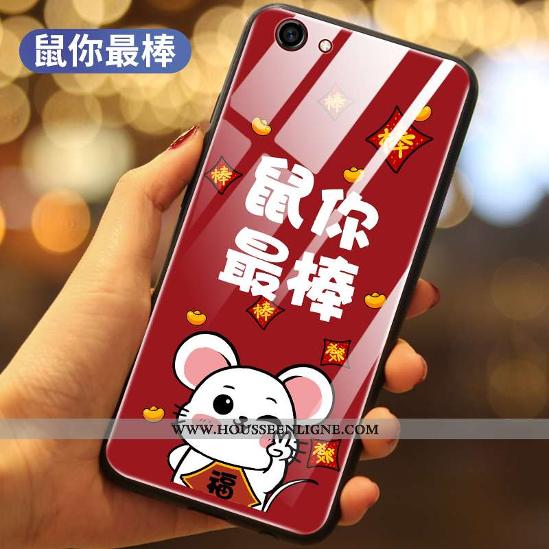Coque Oppo A3 Silicone Verre Rat Téléphone Portable Tout Compris Rouge