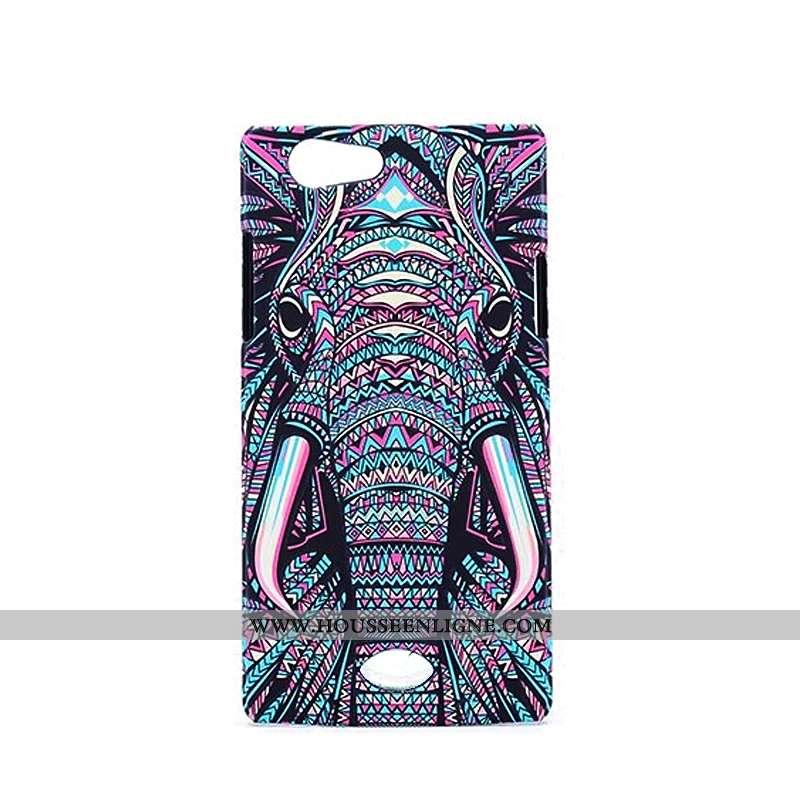 Coque Oppo A31 Délavé En Daim Gaufrage Téléphone Portable Lumineuses Violet Étui