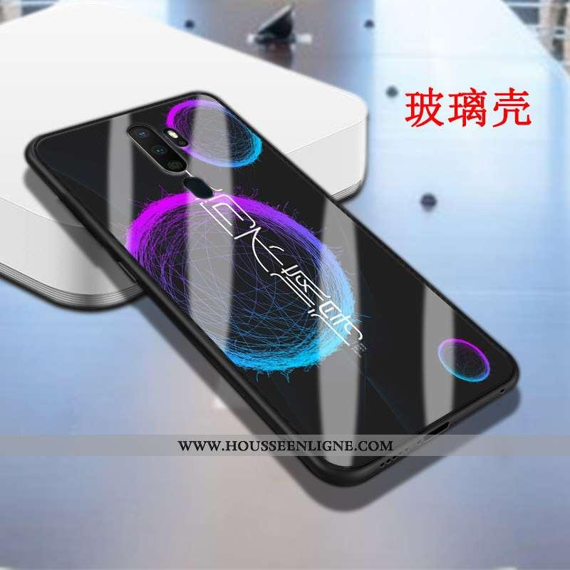 Coque Oppo A5 2020 Fluide Doux Silicone Protection Personnalité Étui Membrane Nouveau Noir