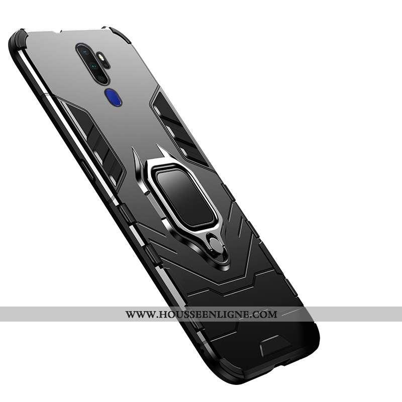 Coque Oppo A5 2020 Protection Créatif Armure Étui Anneau Support Noir
