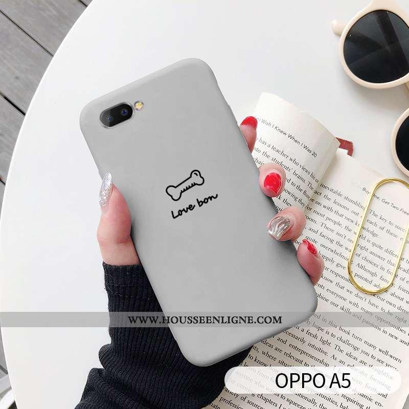 Coque Oppo A5 Charmant Tendance Étui Amoureux Chiens Téléphone Portable Gris