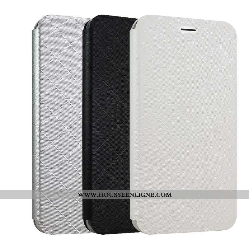 Coque Oppo A5 Protection Cuir Étui Téléphone Portable Carte Housse Blanche