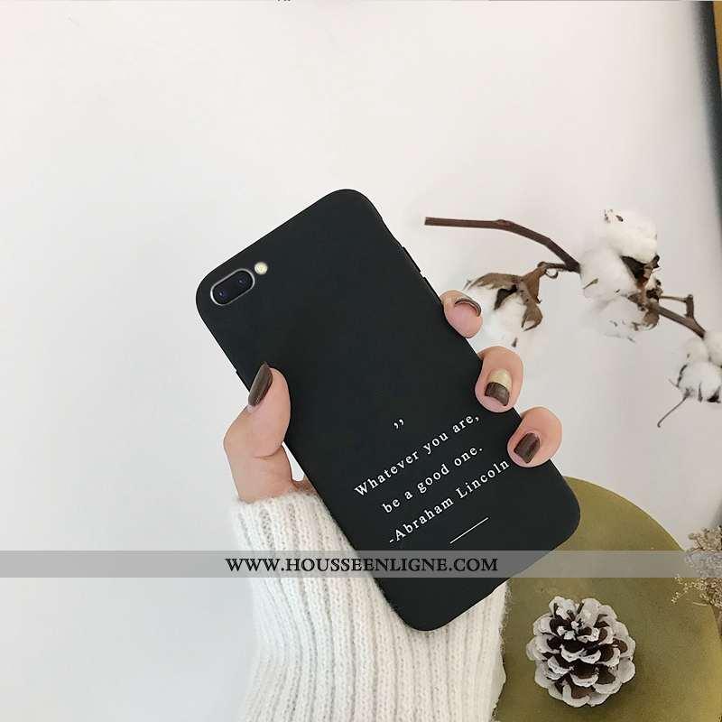 Coque Oppo A5 Protection Ornements Suspendus Étui Téléphone Portable Fluide Doux Incassable Noir