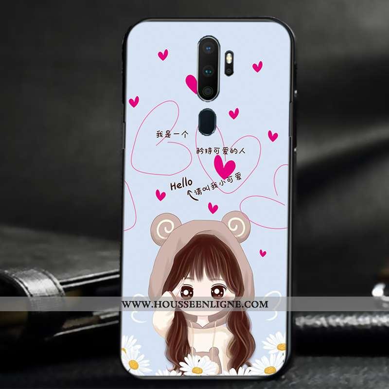 Coque Oppo A9 2020 Créatif Légère Étui Silicone Téléphone Portable Tout Compris Protection Beige