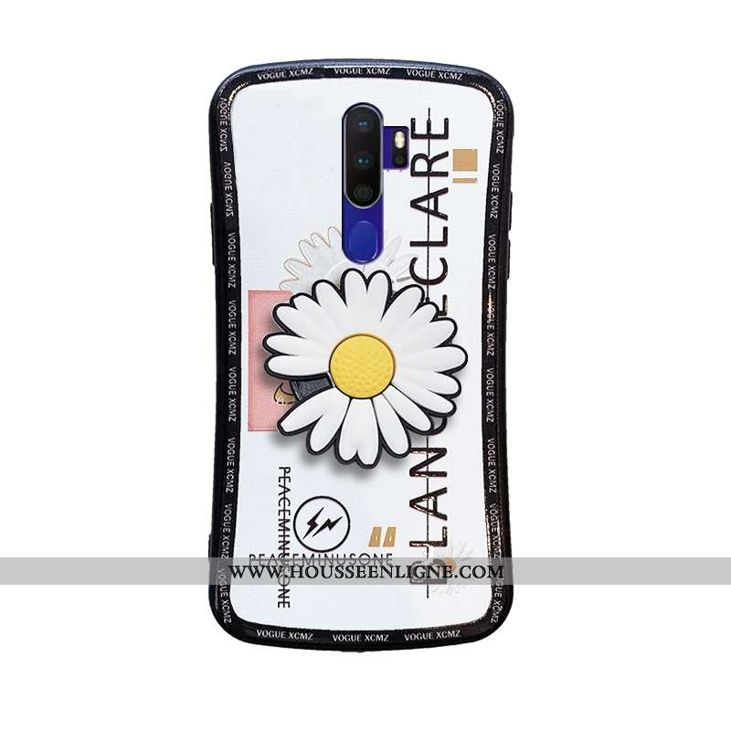 Coque Oppo A9 2020 Fluide Doux Mode Étui Protection Blanc Support Blanche