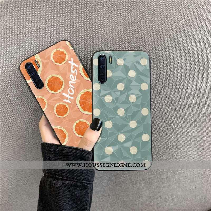 Coque Oppo A91 Protection Modèle Fleurie Orange Étui Fluide Doux Téléphone Portable