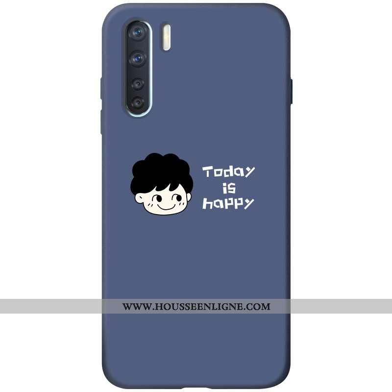 Coque Oppo A91 Silicone Protection Bleu Marin Étui Dessin Animé Téléphone Portable Bleu Foncé