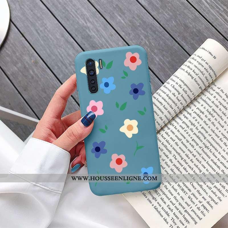 Coque Oppo A91 Silicone Protection Frais Tendance Téléphone Portable Étui Bleu