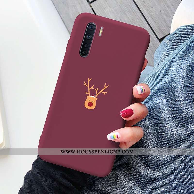 Coque Oppo A91 Silicone Protection Personnalité Incassable Téléphone Portable Elk Rouge