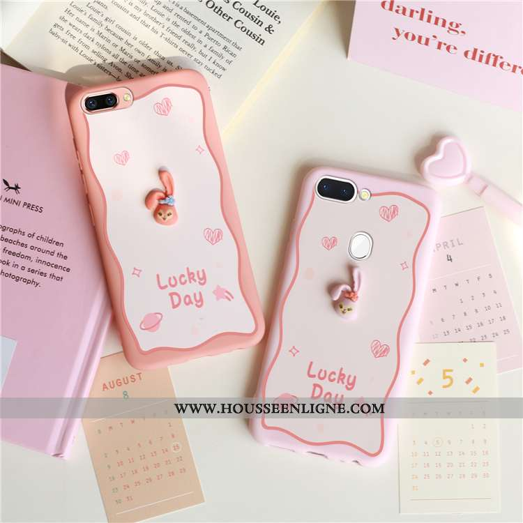 Coque Oppo Ax5 Charmant Tendance Rose Simple Créatif Protection