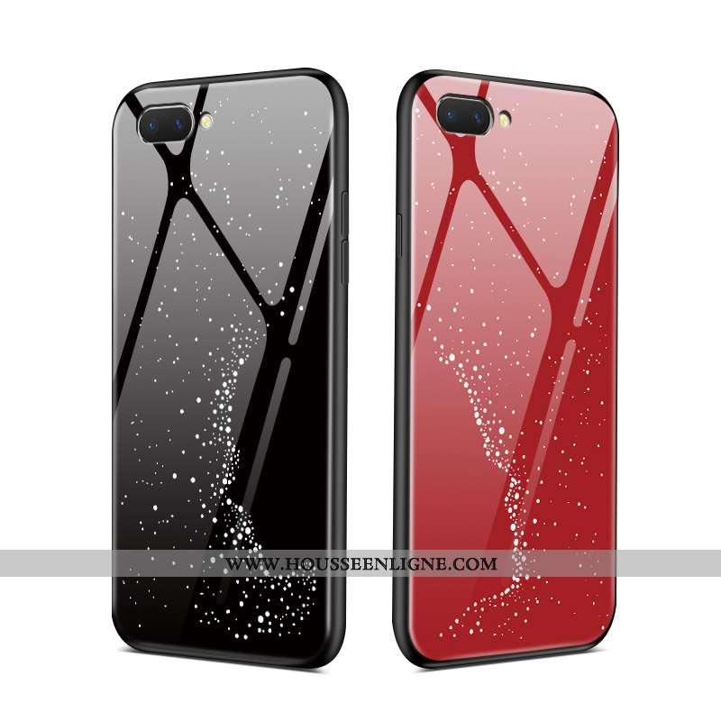 Coque Oppo Ax5 Protection Verre Étui Mode Rat Rouge Miroir Noir