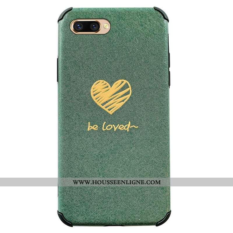 Coque Oppo Ax5 Silicone Créatif Incassable Téléphone Portable Amoureux Fluide Doux Verte